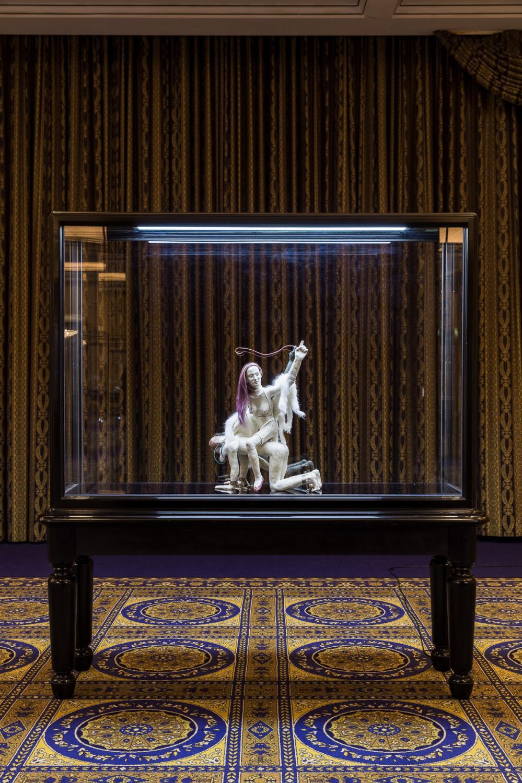 Interconti è la fiera viennese visitabile online, che ha luogo all'interno di un lussuoso hotel chiuso. Qui una veduta dell'esposizione.